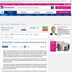 SOPRA STERIA : résultat net de 98,2 millions d'euros en 2014
