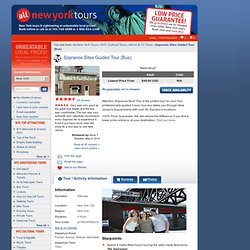 Sopranos Sites Guided Tour (Bus) from All New York Tours