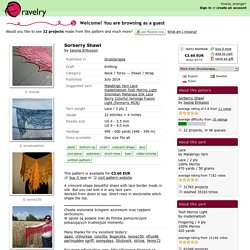 Sorberry Shawl pattern by Iwona Eriksson