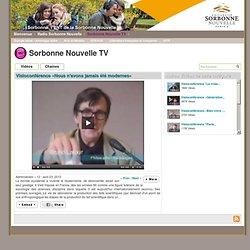 Sorbonne Nouvelle TV - Visioconférence «Nous n'avons jamais été modernes»