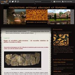 Magie et sorcellerie gallo-romaines : de nouvelles tablettes de defixion trouvées au Mans