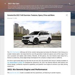 Sorento Kia 2021 Full Overview