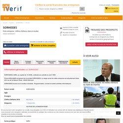 Société SORHODES à MORNANT (Chiffre d'affaires, bilans, résultat) avec Verif.com - Siren 400606042