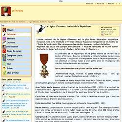 Sornettes - La Légion d'honneur, hochet de la République
