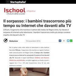 Il sorpasso: i bambini trascorrono più tempo su Internet che davanti alla TV