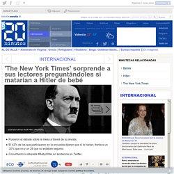 'The New York Times' sorprende a sus lectores preguntándoles si matarían a Hitler de bebé