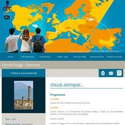 Fuiggi Sorrento - Circuit scolaire L'Italie antique - CLC