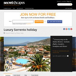 Save up to 70% on luxury travel