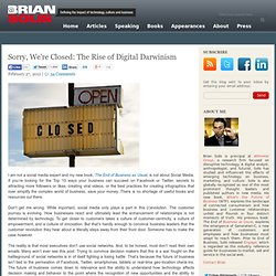 Sorry, We're Closed: The Rise of Digital Darwinism