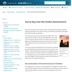Sorry Day and the Stolen Generations