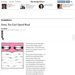 Sorry, You Can't Speed Read