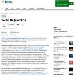 Sortie De JavaFX 14
