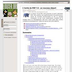 Sortie de PHP 7.0 - un nouveau départ