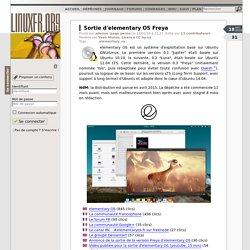 Sortie d'elementary OS Freya