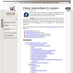 Sortie de Fedora  15 « Lovelock »