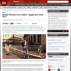 Sortie iPhone 5 en vidéo : Apple les rend fou !