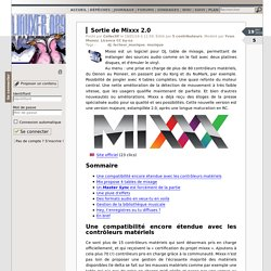 Sortie de Mixxx 2.0