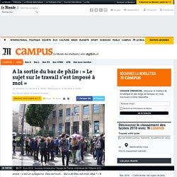 """""""Travailler moins, est-ce vivre mieux ?"""" Bac philo 2016"""