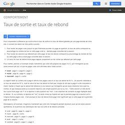 Taux de sortie et taux de rebond - Centre d'aide GoogleAnalytics
