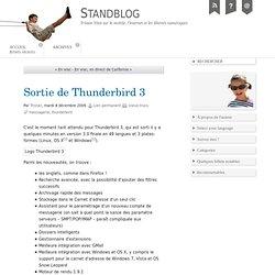 Sortie de Thunderbird 3