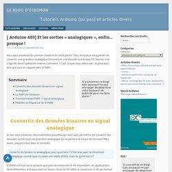 "Les sorties ""analogiques"" - Tuto Arduino"