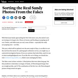 Sorting the Real Sandy Photos From the Fakes - Alexis C. Madrigal