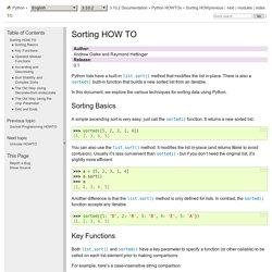 Guide pour le tri — Documentation Python 3.8.3rc1