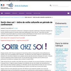 Sortir chez soi ! - lettre de veille culturelle en période de (...)