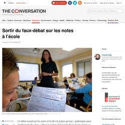 Sortir du faux-débat sur les notes à l'école