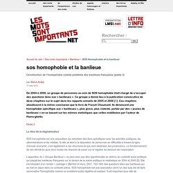 SOS Homophobie et la banlieue