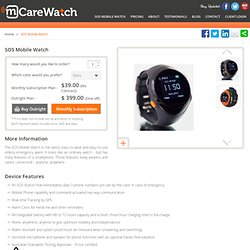 SOS Mobile Watch