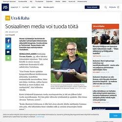 Sosiaalinen media voi tuoda töitä