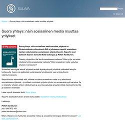 SoMen vaikutuksia suomalaiseen yrityskulttuuriin, EVA