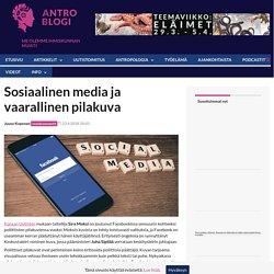 Sosiaalinen media ja vaarallinen pilakuva - AntroBlogi