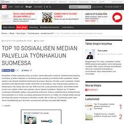 Top 10 sosiaalisen median palvelua työnhakuun Suomessa