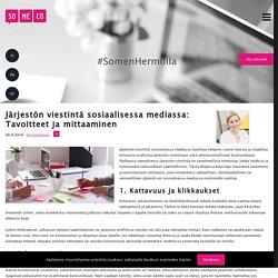 Järjestön viestintä sosiaalisessa mediassa: Tavoitteet ja mittaaminen