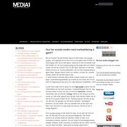 Sosiale medier i markedsføringen