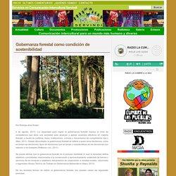 Gobernanza forestal como condición de sostenibilidad