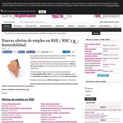 Nuevas ofertas de empleo en RSE / RSC y Sostenibilidad