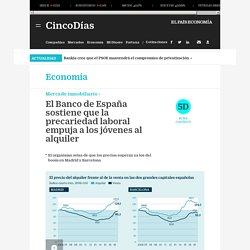 El Banco de España sostiene que la precariedad laboral empuja a los jóvenes al alquiler