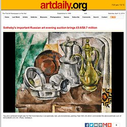 Sotheby's important Russian art evening auction brings £5.6/$8.7 million