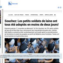 Souchez: Les petits soldats de laine ont tous été adoptés en moins de deux jours!