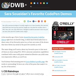 Sara Soueidan's Favorite CodePen Demos