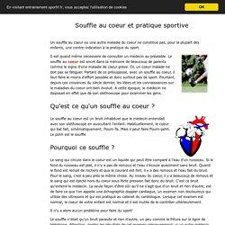 Souffle au coeur L'enfant cardiaque et le sport