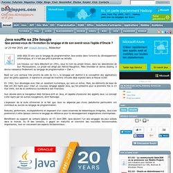 Java souffle sa 20e bougie, que pensez-vous de l'évolution du langage et de son avenir sous l'égide d'Oracle ?