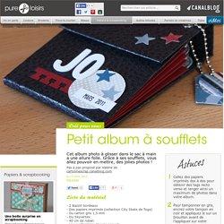 Petit album à soufflets - Papiers & scrapbooking