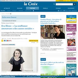 Eva Illouz: «La souffrance amoureuse a des causes sociales»