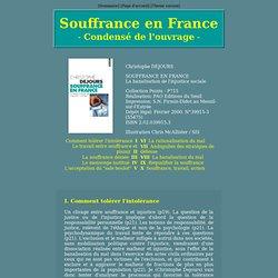 Souffrance en France : condensé de l'ouvrage