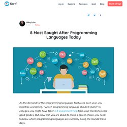 8 Most Sought After Programming Languages Today