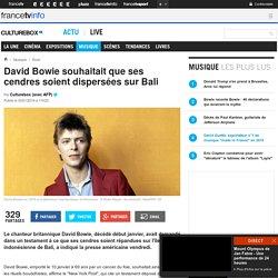 David Bowie souhaitait que ses cendres soient dispersées sur Bali